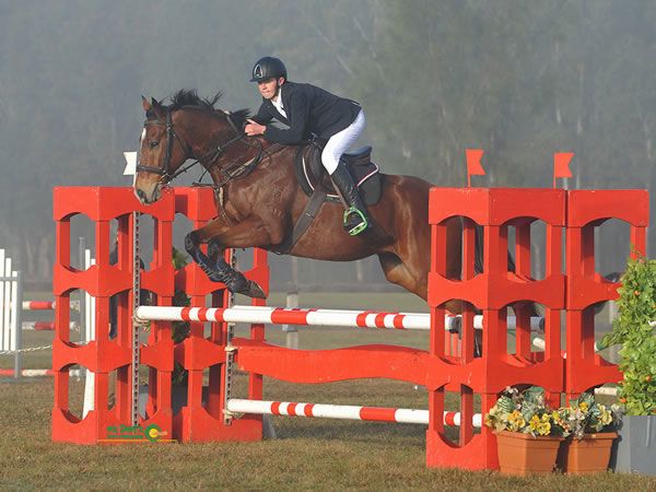 Lenny jumped his first 1m class at the Camden Winter Jumping Festival this year