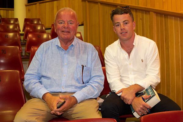 Te Akau Racing Principal David Ellis (left) with trainer Jamie Richards.