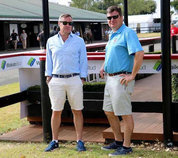 American buyers Jamie Hill (left) and Mike McMahon. Photo: Darryl Sherer