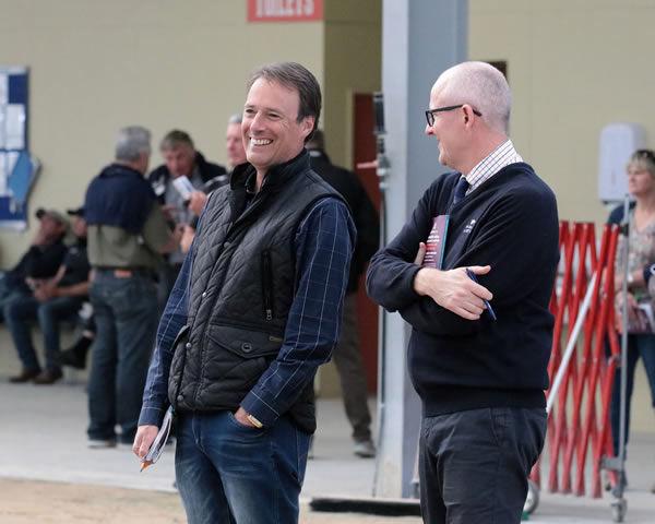 Prominent Ready to Run buyer Phill Cataldo (left).