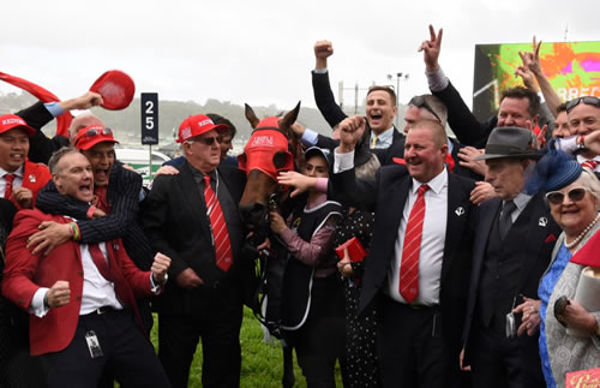 Redzel won the first two Everests and was a Triple Crown Syndications horse with a big team of owners