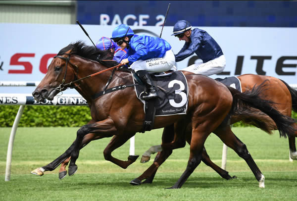 Anamoe bursts some bubbles in the G2 Todman Stakes - image Steve Hart.