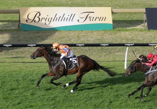 Entriviere and Danielle Johnson streak clear in the Gr.3 Brighthill Farm Concorde Handicap (1200m) Photo Credit: Trish Dunell