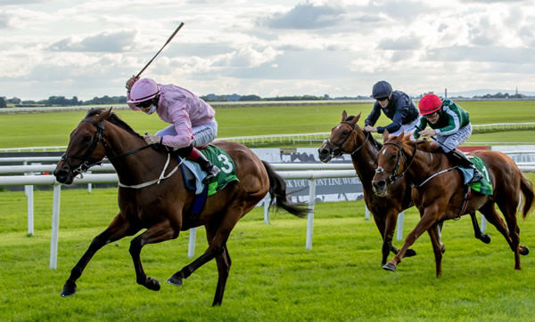 Even So wins the Irish Oaks - image Curragh Racecourse Twitter