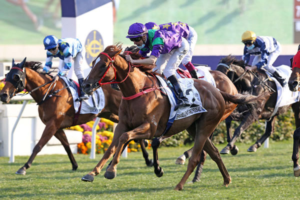 Excellent Proposal wins the G1 Classic Mile - image HKJC.