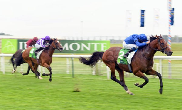 Ghaiyyath gallops way from Magical to win the G1 Juddmonte International - image Godolphin Twitter