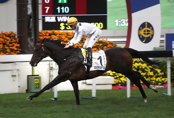 Golden Sixty wins the HK Classic Mile - image HKJC
