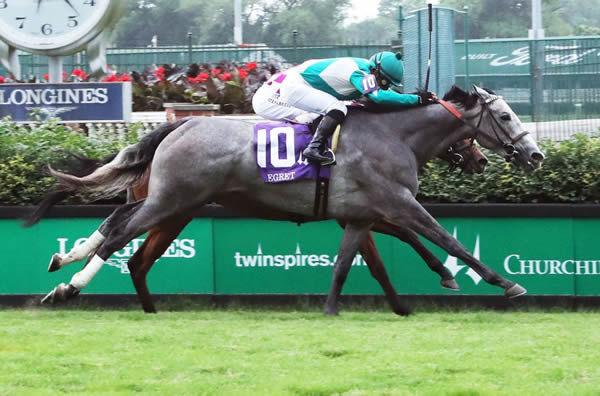 Harvey's Lil Goil wins the G3 Regret Stakes - image Coolmore