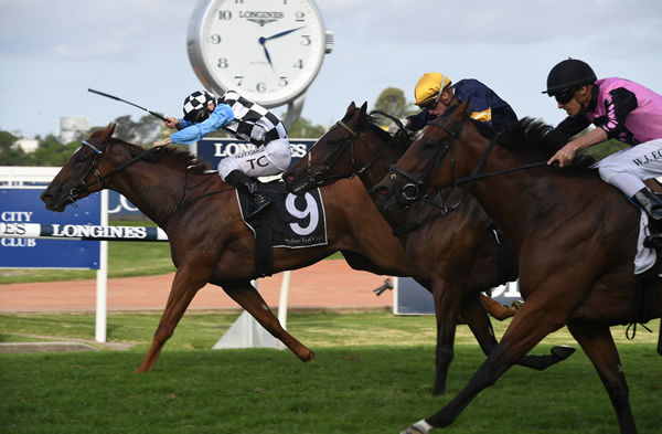 I Am Excited wins The G1 Galaxy - image Steve Hart
