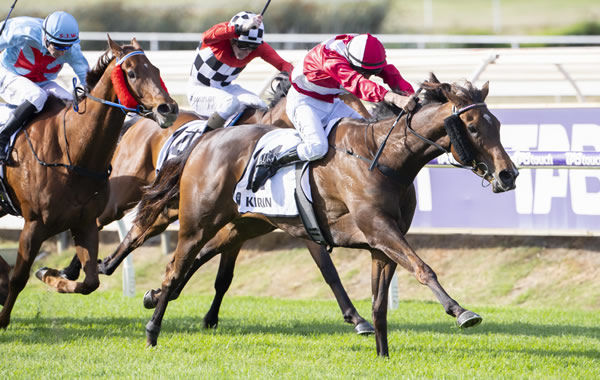 Inspirational Girl (NZ) wins the G1 Railway Stakes.