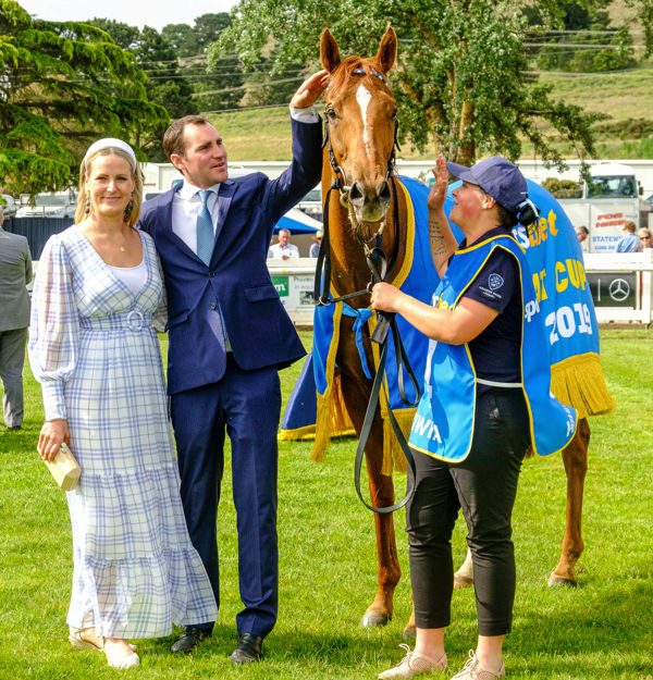 Connections celebrate the win of Kiwia - image Grant Courtney