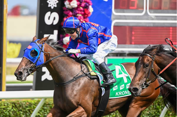 Krone wins the $1million MM Filly and Mare - image Steve Hart
