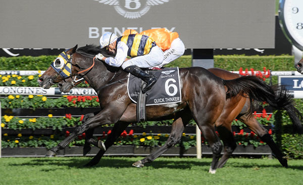 Quick Thinker wins the 2020 Australian Derby - image Steve Hart