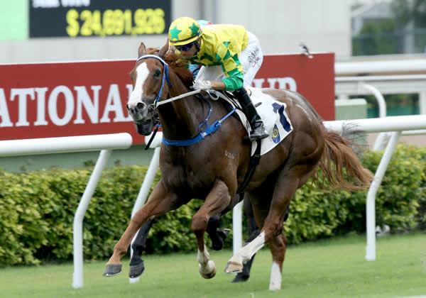 Sky Field wins three on the trot at Sha Tin - image HKJC