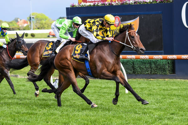 Yearning from last to first in Thousand Guineas (image Pat Scala/Racing Photos)