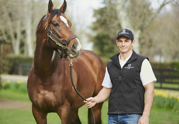 Mapperley Stud principal Simms Davison pictured with Contributer. Photo: Supplied